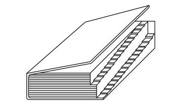Encoches escaliers 2 niveaux décalés